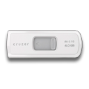 Cruzer, Micro, White Icon