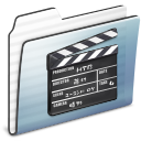 Folder, Graphite, Movie, Old, Stripe Icon