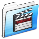 Folder, Movie, Stripe Icon