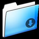 Drop, Folder, Smooth Icon