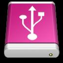 Drive, Pink, Usb Icon