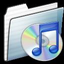 Folder, Graphite, Itunes, Stripe Icon