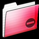 Folder, Private, Red, Stripe Icon