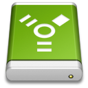 Drive, Firewire, Green Icon