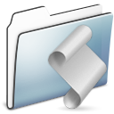 Folder, Graphite, Script, Smooth Icon