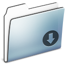 Drop, Folder, Graphite, Smooth Icon