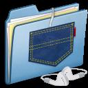 Blue, Ipod, Pocket, Shuffle Icon