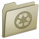 Lightbrown, Recycling Icon