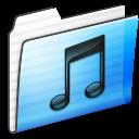 Folder, Music, Stripe Icon