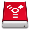 Drive, Firewire, Product, Red Icon