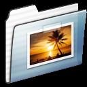 Folder, Graphite, Pictures, Stripe Icon
