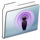 Folder, Graphite, Podcast, Sidebar, Smooth Icon