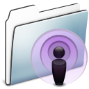 Folder, Graphite, Podcast, Smooth Icon