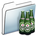 Beer, Folder, Graphite, Smooth Icon