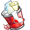 Full, Trashcan Icon