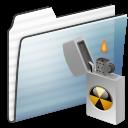 Alt, Burnable, Folder, Graphite, Stripe Icon