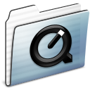 Folder, Graphite, Quicktime, Stripe Icon