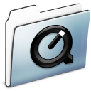 Folder, Graphite, Quicktime, Smooth Icon