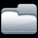Folder, Open, Silver Icon