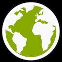 Globe, Icon, Midori Icon