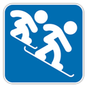 Cross, Icon, Snowboard Icon
