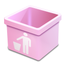 Dsquared, Empty, Pink, Trash Icon