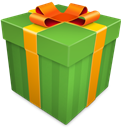 Christmas, Gift, Green Icon