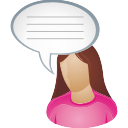 Comment, She, User Icon