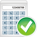 Accept, Calculator Icon