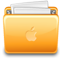 Apple, File, Folder, With Icon