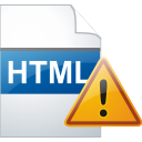 Html, Page, Warning Icon