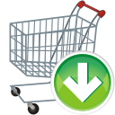 Cart, Down, Shopping Icon