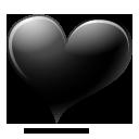 Black, Heart Icon