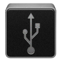 Black, Usb Icon