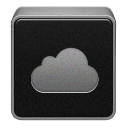 Black, Cloud, Mobileme Icon