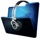 Folder, Headphone, Music Icon