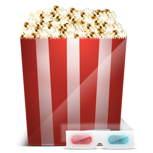 3d, Cinema, Glasses, Popcorn Icon