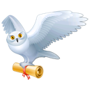 Animal, Bird, Fly, Harry, Hedwig, Mail, Owl, Potter Icon