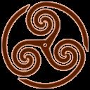 Brown, Triskelion, Wheeled Icon