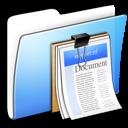 Aqua, Documents, Folder, Smooth Icon