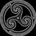 Grey, Triskelion, Wheeled Icon