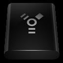 Black, Drive, Firewire Icon