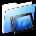Aqua, Folder, Smooth, Wallpapers Icon