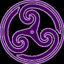 Purple, Triskelion, Wheeled Icon