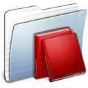 Folder, Graphite, Library, Stripped Icon