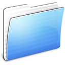 Aqua, Folder, Generic, Stripped Icon