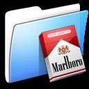 Aqua, Folder, Marlboro, Smooth Icon