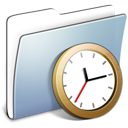 Clock, Folder, Graphite, Smooth Icon
