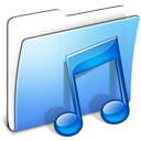 Aqua, Folder, Music, Smooth Icon