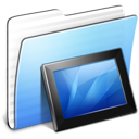 Aqua, Folder, Stripped, Wallpapers Icon